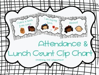 Lunch Count Clip Chart (Black Stripe Theme)