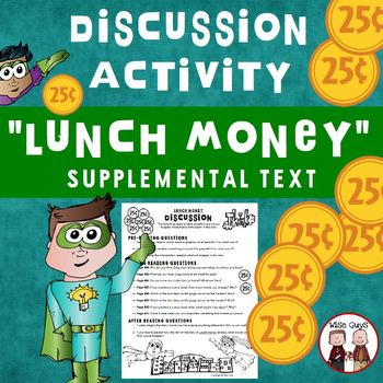 Lunch Money Discussion Questions Journeys Supplemental Resource
