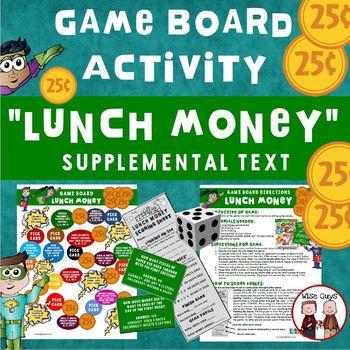 Lunch Money Game Board Journeys Supplemental Resource