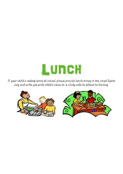 Lunch Sign- Elementary School
