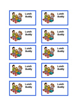 Lunch buddy template