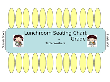 Lunchroom Table Seating Chart