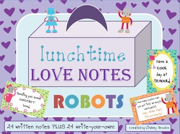 Lunchtime Love Notes Set 1 - Robots