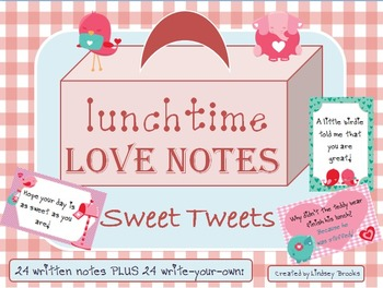 Lunchtime Love Notes Set 2 - Sweet Tweets