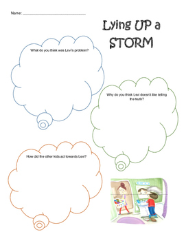 Lying Up a Storm Worksheet