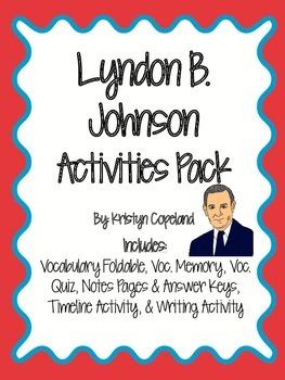 Lyndon B. Johnson Activities Pack