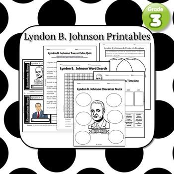 Lyndon B. Johnson Printables