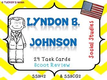 Lyndon B. Johnson (Task Cards)