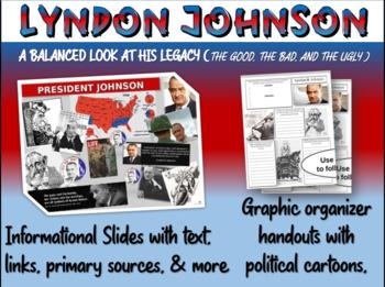 Lyndon Johnson (LBJ): quotes, cartoons, foreign/domestic l