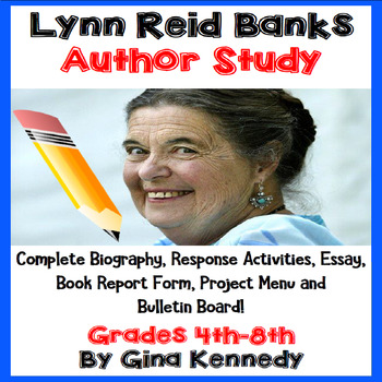 Lynne Reid Banks Author Study, Biography, Reading Response