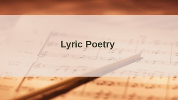 Lyric Poetry Introduction