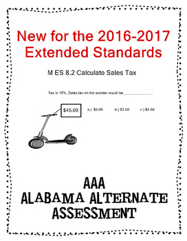 M 8.2 Calculate Sales Tax NEW Extended Standards AAA