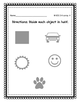 Divide objects in half