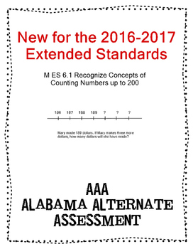 M 6.1 Extended Standard Use Number Line Word Problems  NEW AAA