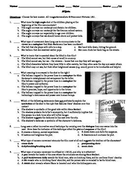 M Film (1931) 15-Question Multiple Choice Quiz