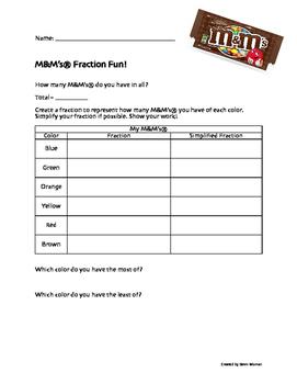 M&M's® Fraction Fun