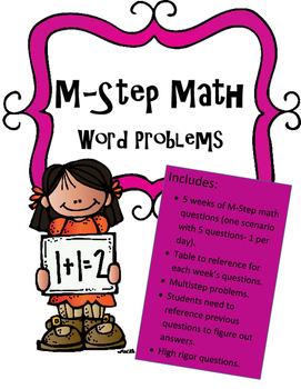 M-Step Math Activity Performance Task Practice Grade 3
