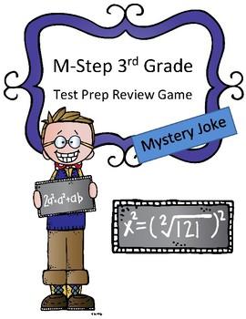 M-Step Math Activity Test Prep Review Game Mystery Joke 3rd grade