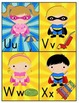M-Z Super Hero Kids Alphabet Cards
