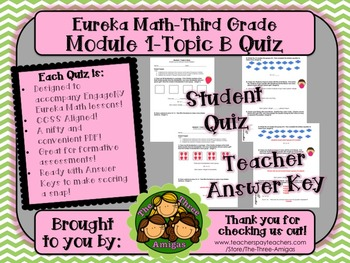 M1 Eureka Math - Topic B Quiz (Grade 3)