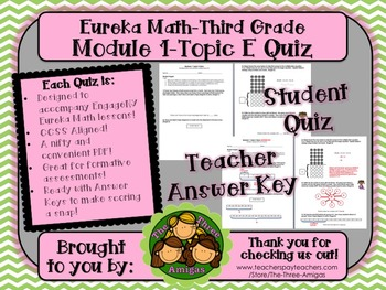 M1 Eureka Math - Topic E Quiz (Grade 3)
