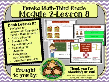 M2L08 Eureka Math-Third Grade: Module 2-Lesson 8 SmartBoar