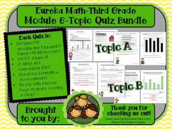 M6 Eureka Math - Topic Quiz Bundle (Grade 3)