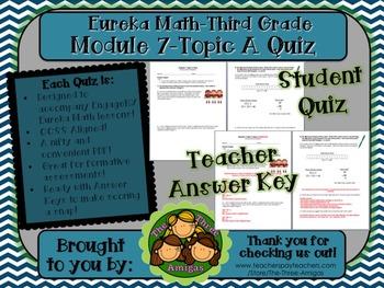 M7 Eureka Math - Topic Quiz A (Third Grade