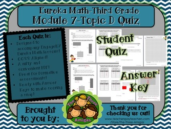 M7 Eureka Math - Topic Quiz D (Third Grade)