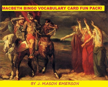 MACBETH BINGO VOCABULARY CARD FUN PACK!