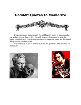 HAMLET: Quotes, Test, and Key