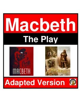 MACBETH- THE PLAY (MODIFIED)- EASY READING- NO PREP- LANGU