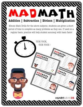 MAD MATH   BASIC FACT FLUENCY CHECK