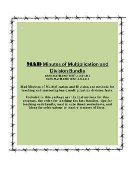 MAD Minutes of Multiplication & Division (Bundle)