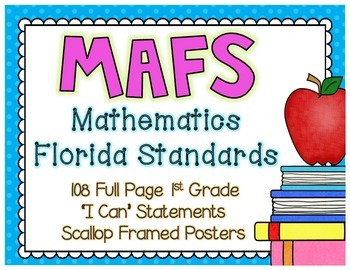 "MAFS ""I Can"" Statements {NEW Mathematics Florida Standards)"