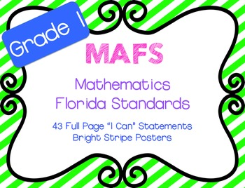 "MAFS ""I Can"" Statements Stripes {NEW Mathematics Florida S"