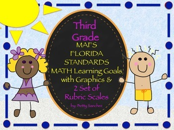MAFS FLA THIRD GRADE Math Learning Goals with 2 SETS of RU