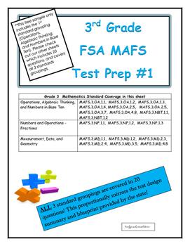FSA MAFS Third Grade Test Prep 1- Common Core Aligned