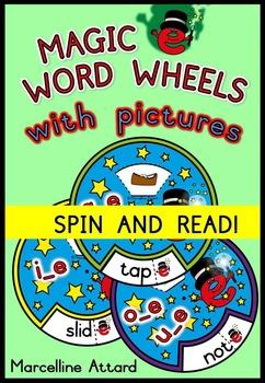 LONG VOWELS: MAGIC E WORD WHEELS: PHONICS READING ACTIVITI