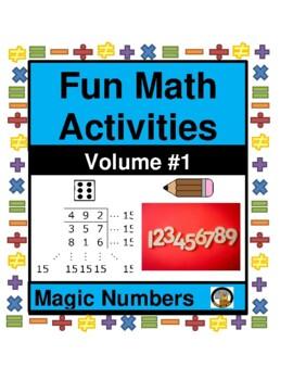 MATH- FUN ACTIVITY-MAGIC NUMBERS VOLUME 1- MATH- NO PREP