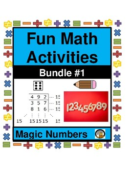 MATH- FUN ACTIVITY-MAGIC NUMBERS BUNDLE 1 (UNIT 1)- MATH- NO PREP