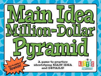 MAIN IDEA MILLION-DOLLAR PYRAMID Game