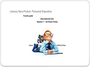 MAISA Writing,4th grade, Literary Nonfiction, Concept II