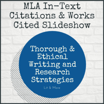 MLA In-text Citations ppt