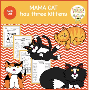 MAMA CAT has three kittens by Denise Fleming Book Unit