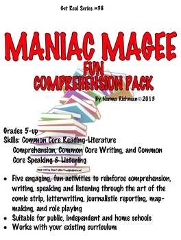 MANIAC MAGEE FUN COMPREHENSION LESSON PLANS WITH COMMON CO