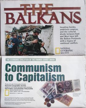 MAP NATIONAL GEOGRAPHIC Russia Communism Capitalism ECONOM