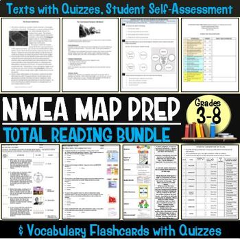 MAP TESTING READING QUIZZES COMPLETE RIT PACKAGE! (ALL RIT