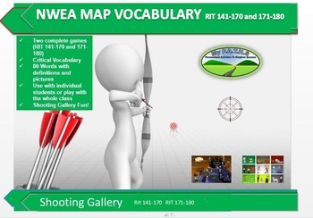 MAP TEST READING NWEA VOCAB GAME - Shooting Gallery  RIT 1