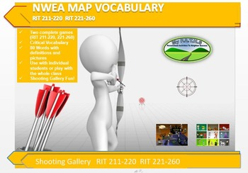 MAP TEST READING VOCABULARY GAME - Shooting Gallery  RIT 2